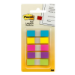 Post-It Flags, Assorted Bright Colors, 1/2 in Wide, 100/On-the-Go Dispenser self adhesive flags 100 sheets