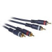 C2G 1m Velocity RCA Audio Cable cable de audio Negro