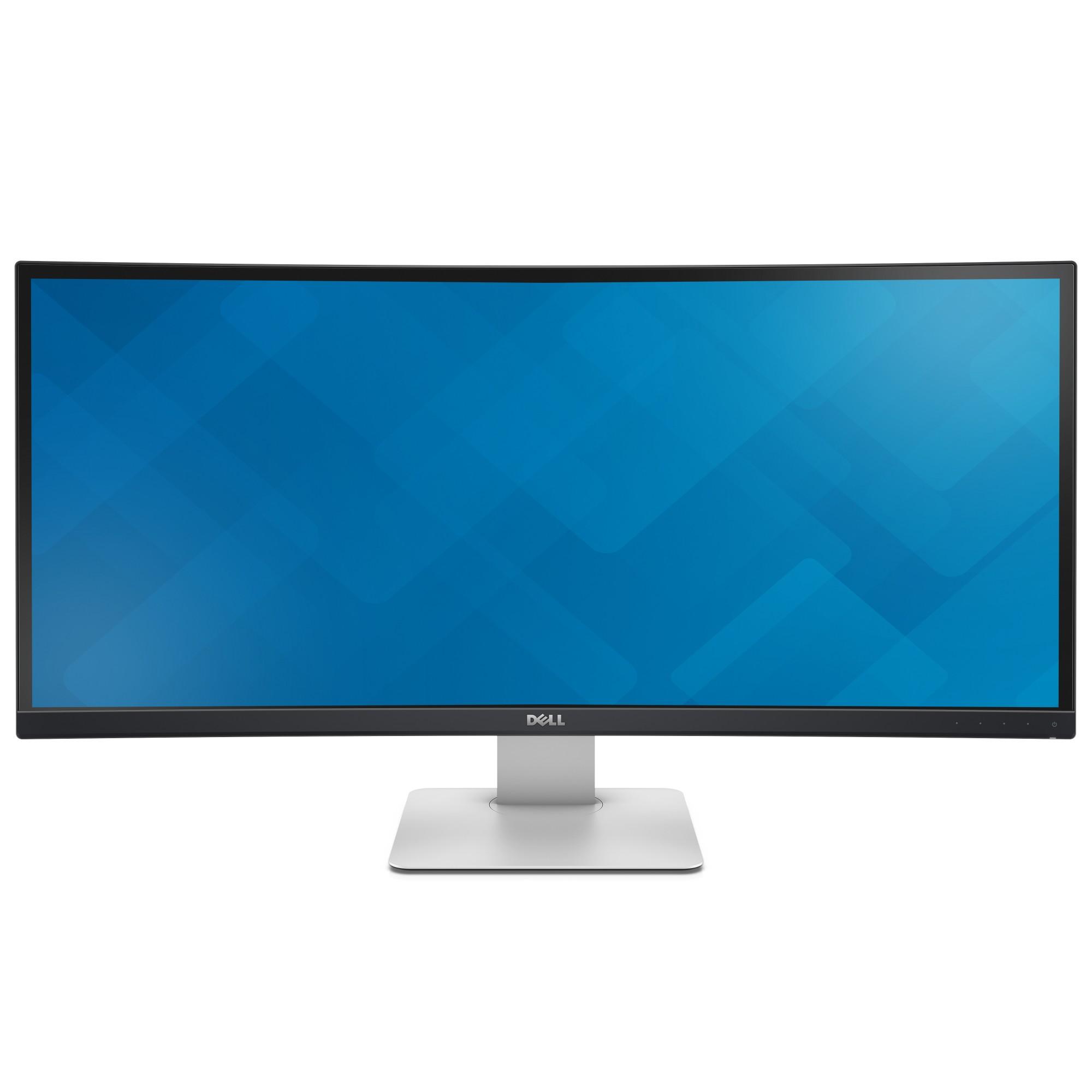 """DELL UltraSharp U3415W LED display 86.4 cm (34"""") 3440 x 1440 pixels Wide Quad HD LCD Curved Matt Black"""