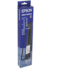 Epson SIDM Black Ribbon Cartridge for LX-300/+/II/4xx/8xx, FX-8xx (C13S015019) #8750