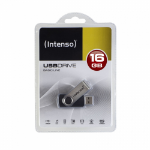 Intenso 16GB Basic USB2.0 16GB USB 2.0 USB Type-A connector Black, Silver USB flash drive