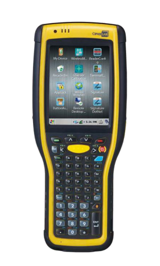 "CipherLab 9700 handheld mobile computer 8.89 cm (3.5"") 320 x 240 pixels Touchscreen 447 g Black,Yell"