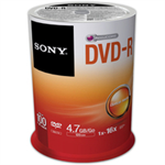 Sony 4.7GB DVD-R - 16X Spindle 100 Pack (100DMR47SP)