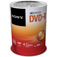 DVD-r Media 4.7GB 16x 100pk Spindle (100dmr47sp)