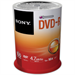 Sony DVD-R, 16X, SPINDLE 100 PCS