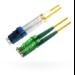 Microconnect LC/UPC - E2000/APC, 9/125, 10m 10m LC E-2000 (APC) Yellow