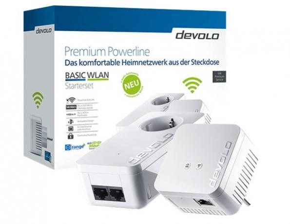 Devolo BASIC WLAN Starter v2 500Mbit/s Ethernet LAN Wi-Fi White 2pc(s) PowerLine network adapter