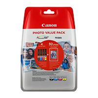 Canon 6443B006 cartucho de tinta Original Foto negro, Fotos cian, Foto magenta, Amarillo para impresión de fotografías