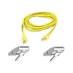 Belkin Cat5e Patch Cable Moulded Snagless Strain Relief 2m Yellow networking cable