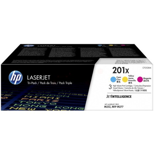 HP CF253XM (201X) Toner MultiPack, 2.3K pages, Pack qty 3