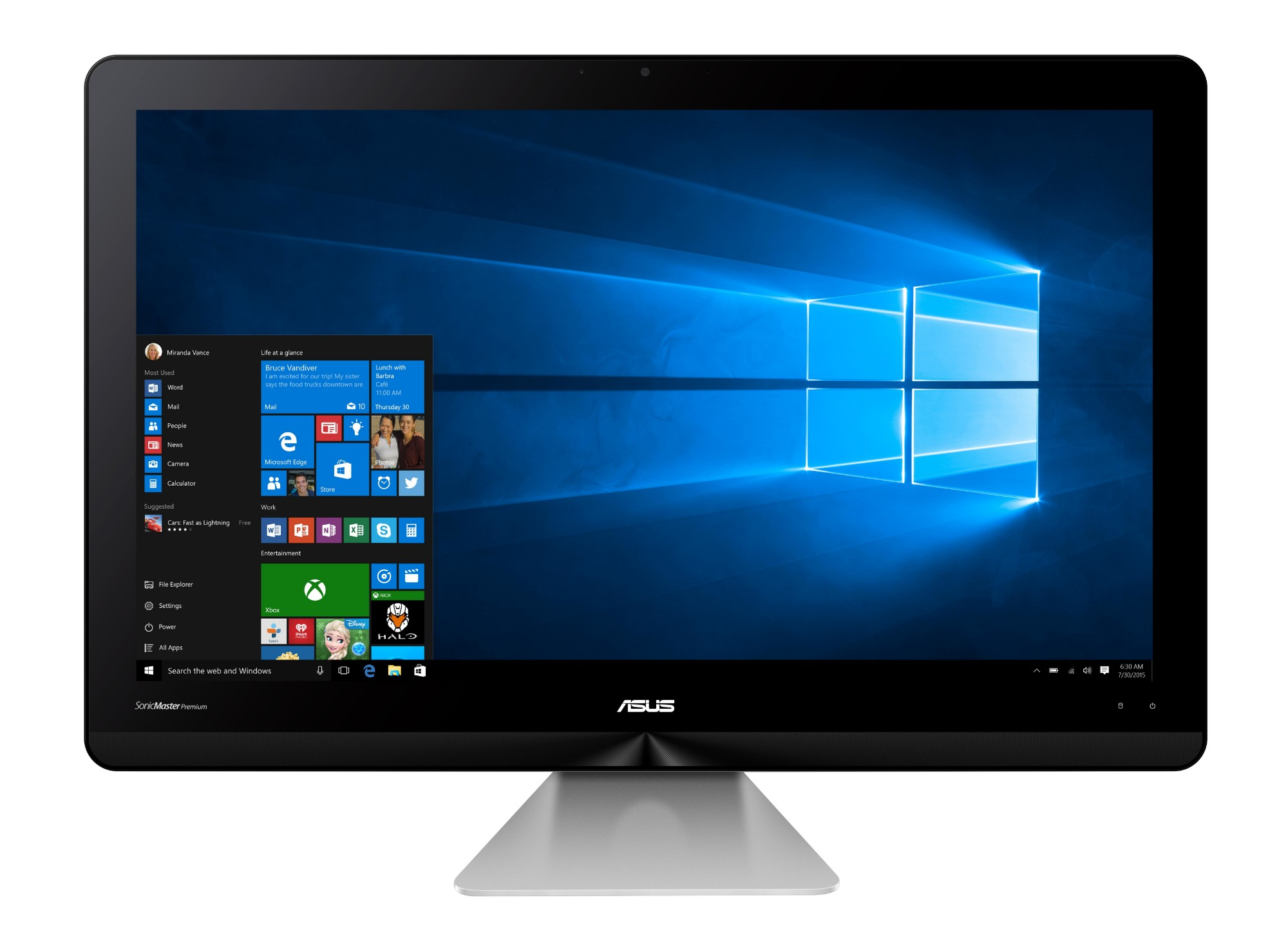 "ASUS Zen AiO ZN240ICGK-RA024T 2.70GHz i7-7500U 23.8"" 1920 x 1080pixels Grey All-in-One PC"