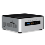 INTEL ULTRA MINI NUC PC, i3-7100U, 8GB(1/2), 256GB SSD, WL-AC, W10P , 3YR NBD