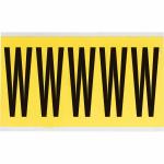 Brady 3460-W self-adhesive label Rectangle Removable Black, Yellow 5 pc(s)