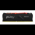 Kingston Technology FURY Beast RGB memory module 8 GB 1 x 8 GB DDR4 3000 MHz