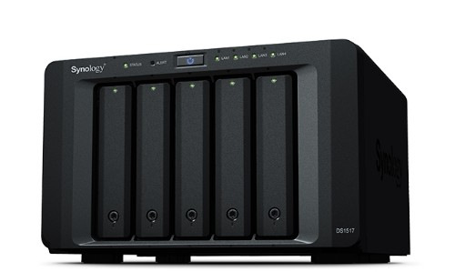 Synology DS151730TBWD DiskStation DS1517 30TB RED 5 Bays NAS Server Black