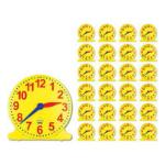 ANALOGUE CLOCK CLASS SET 1 TEACHER CLOCK AND 24 STUDENT CLOCKS