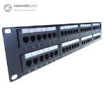 CONNEkT Gear 48 Port Patch Panel (CAT5e) IDC Punch Down 19 inch