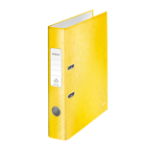 Leitz WOW Lever Arch File A4 80mm Yellow