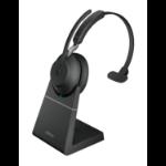Jabra Evolve2 65, MS Mono Headset Head-band USB Type-C Bluetooth Black