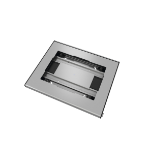 "Vogel's PTS 2010 tablet security enclosure 25.4 cm (10"") Aluminium,Silver"