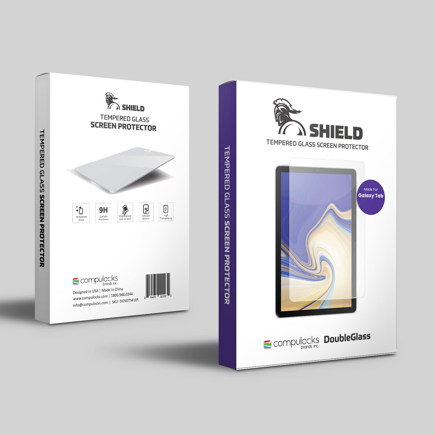 SHIELD - Tempered Glass Screen Protector For Galaxy Tab A 9.7in