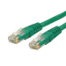 StarTech.com 1 ft Cat 6 Green Molded RJ45 UTP Gigabit Cat6 Patch Cable - 1ft Patch Cord