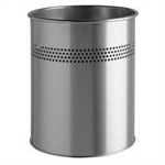 Durable 3300 15L Steel Metallic waste basket