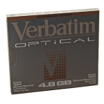 "Verbatim 5.25"" 4.8Gb Write-Once MO Disk 5.25"" magneto optical disk"