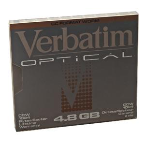 "Verbatim 5.25"" 4.8Gb Write-Once MO Disk magneto optical disk 13.3 cm (5.25"")"