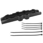 RAM Mounts RAM-GDS-CAB-CLAMP1U cable clamp Black 6 pc(s)