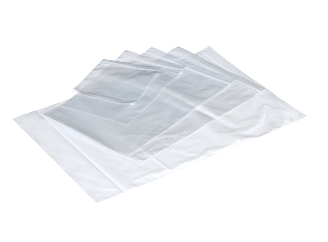 LSM Plain Grip Bags 40mu 102 x 140mm Clear PK1000