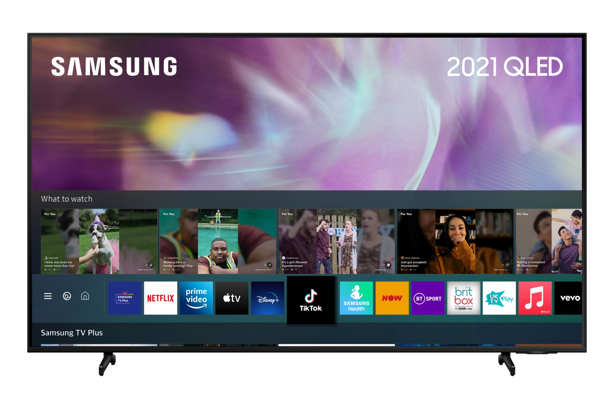 """Samsung QE55Q60AAUXXU TV 139.7 cm (55"""") 4K Ultra HD Smart TV Wi-Fi Black"""