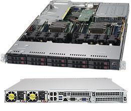 SUPERMICRO SYS-1029UX-LL3-S16 SERVER BAREBONE INTEL C621 LGA 3647 RACK (1U) BLACK