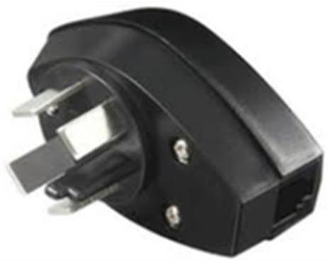 Microconnect TLFDIV power plug adapter Type K (DK) Black