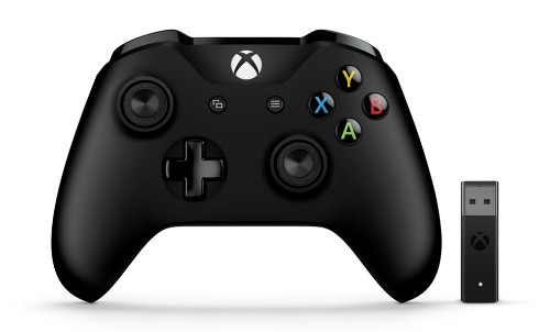 Microsoft Xbox Controller + Wireless Adapter Gamepad PC, Xbox One Black