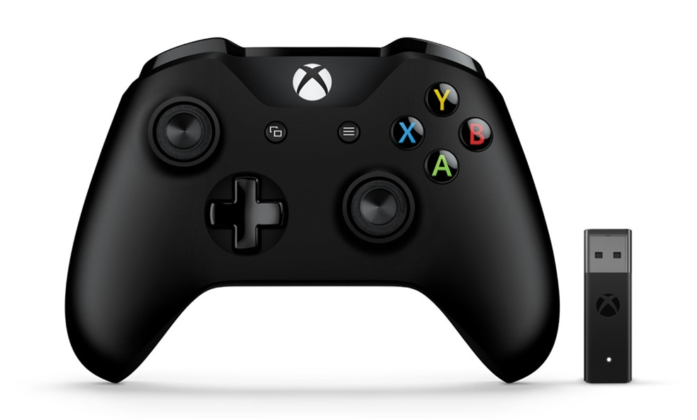 Microsoft Xbox Controller + Wireless Adapter Gamepad PC, Xbox One Black