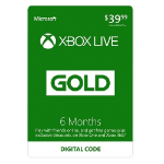Microsoft Xbox Live 6 Month Gold Membership Xbox One