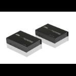 Aten VE812 AV extender AV transmitter & receiver Black