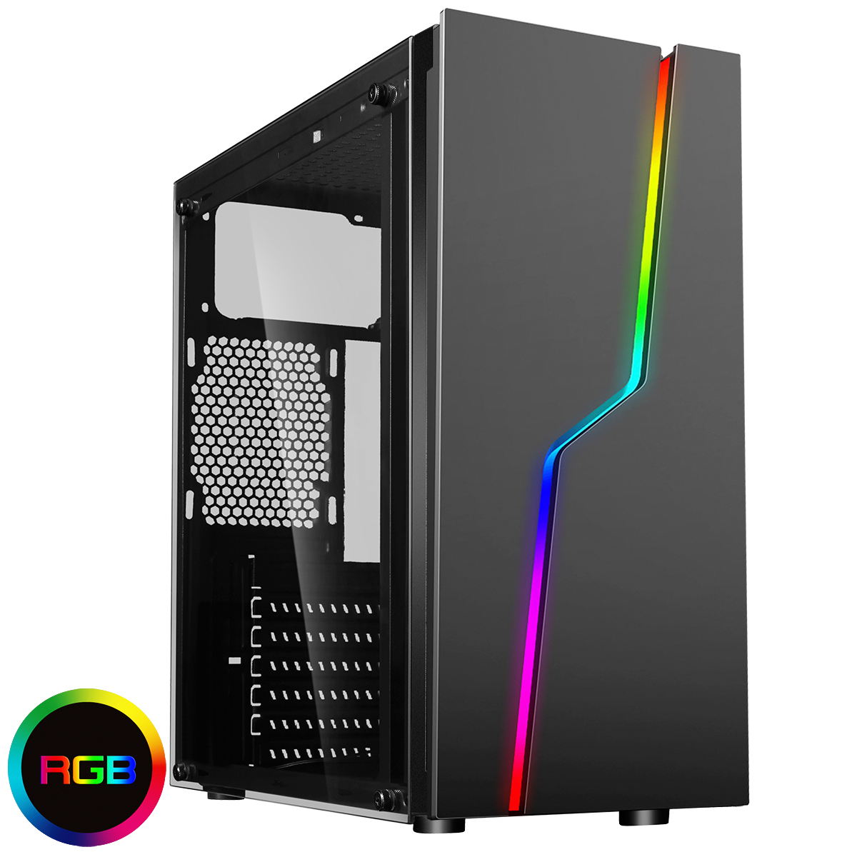 CIT Bolt RGB Tempered Glass Gaming Case
