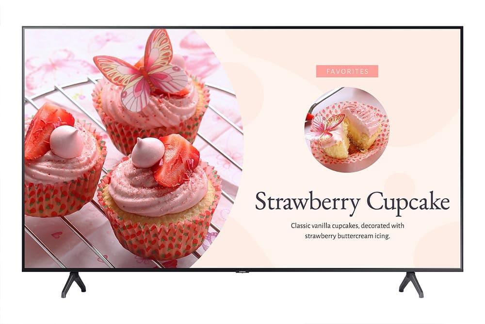 "Samsung BE43T-H 109.2 cm (43"") LED 4K Ultra HD Digital signage flat panel Grey Built-in processor"