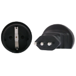 InLine Schuko to Italy 3 Pin Plug Adapter