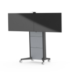SMS Smart Media Solutions Presence Mobile VC 1650 Portable flat panel floor stand Aluminium,Anthracite