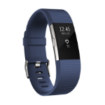 Fitbit Charge 2 Wristband activity tracker OLED Wireless Blue,Silver