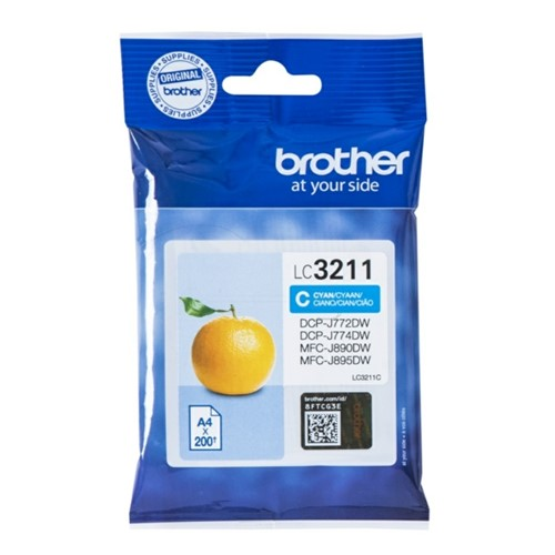 Brother LC-3211C Ink cartridge cyan, 200 pages
