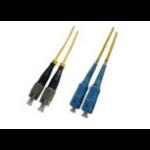 Microconnect FC-SC, 2M, 9/125, SM, Duplex fibre optic cable Yellow