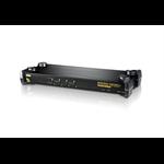 ATEN 4 Port Rackmount PS/2-USB KVM Switch with Audio