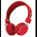 Trust Ziva Auriculares Diadema Conector de 3,5 mm Cromo, Rojo
