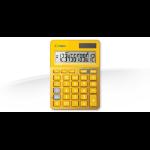 Canon LS-123K calculadora Escritorio Calculadora básica Metálico, Amarillo