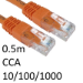 TARGET RJ45 (M) to RJ45 (M) 10/100/1000 Network 6 0.5m Orange OEM Moulded Boot CCA Economy Network Cable
