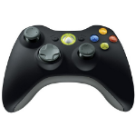 Microsoft Xbox 360 Wireless Controller, f/Windows Gamepad PC Black